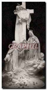 Lisieux Postcard Old sculpts Group surmounting the high altar in the chapel o...