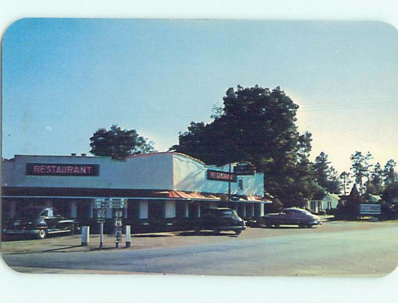 Unused Pre-1980 RESTAURANT SCENE Santee South Carolina SC hk4629