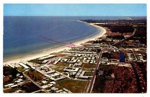FL - Sarasota. Crescent Beach on Siesta Key  (inked arrow on front)