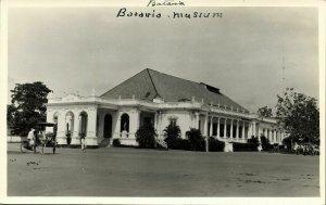 indonesia, JAVA WELTEVREDEN, Schouwburg Theatre (1935) RPPC Postcard