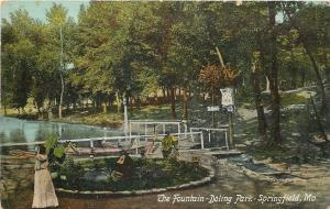 Springfield MO~Doling Park Fountain~Coffee~Not Responsible for Accidents~1910