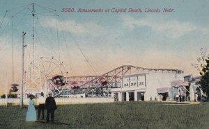 LINCOLN, Nebraska, PU-1911; Amusemtns At Capital Beach