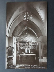 Sussex BRIGHTON St Martins Church LADY ALTAR - Old RP Postcard by A W Wardell