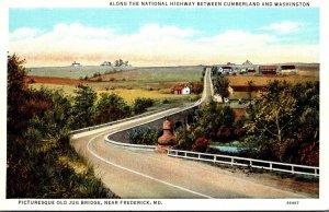 Maryland Frederick Historic Jug Bridge On National Highway Curteich