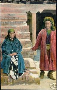 russia, Central Asian Russian Types Man Woman Costumes