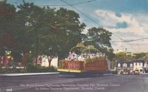 The World Famous Sightseeing Observation Tramway Car, Montreal, Canada,  PU-1955