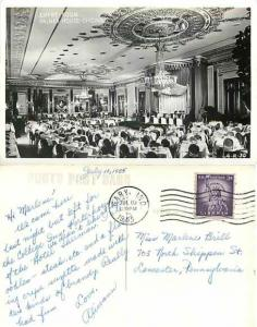 Empire Room, Palmer House, Chicago, Illinois, IL, 1955 RPPC