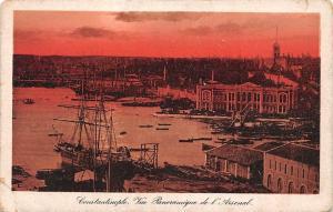 Turkey Istanbul, Constantinople, Vue Panoramique  de l'Arsenal, ship