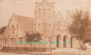 1911 Enid Oklahoma Real Photo Postcard: Presbyterian Church, Corner View