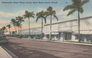 MIAMI BEACH, Florida, 1930-40s; Fashionable Shops Along Lincoln Road