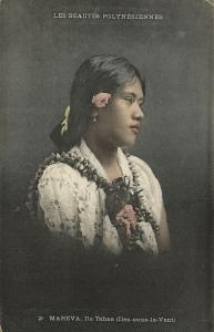 french polynesia, TAHAA, Society Islands, Mareva, Beautiful Native Girl (1910s)