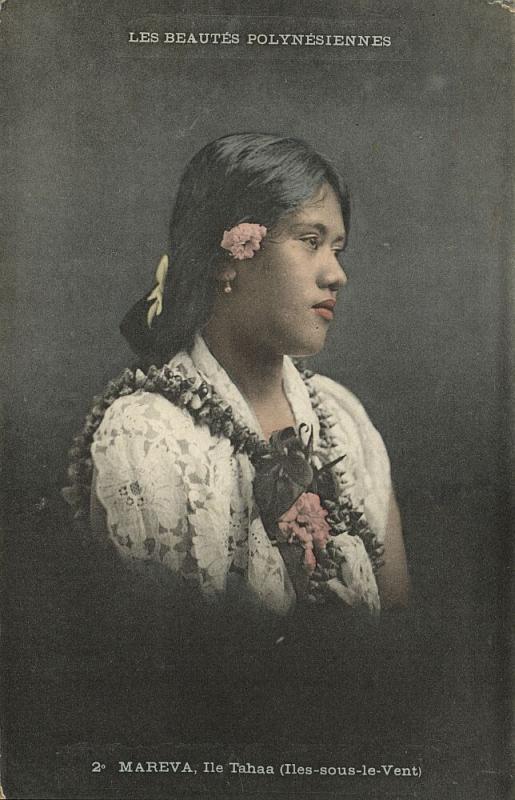 french polynesia, TAHAA, Society Islands, Mareva, Beautiful Native Girl (1910s)