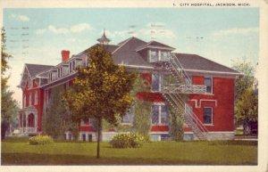 CITY HOSPITAL, JACKSON, MI. 1920
