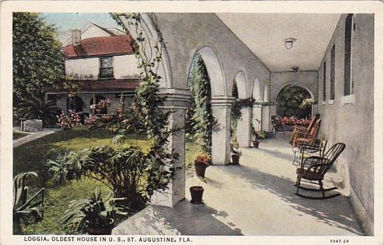 Florida Saint Augustine Loggia Oldest House In U S