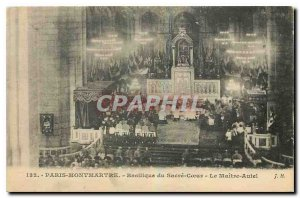 Old Postcard Paris Montmartre Sacre Coeur Basilica of the Altar