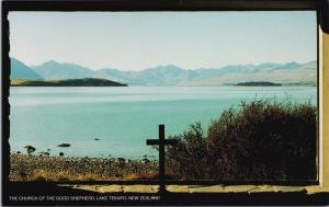 Church Of The Good Shepherd Lake Tekapo New Zealand NZ Vintage Postcard D34