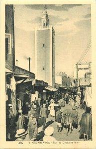 Morocco Casablanca mosque street view Captain Ihler avenue