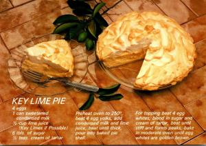 Recipe Card Key Lime Pie Greetings From Florida