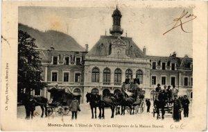 CPA Morez- Hotel de Ville,Les Diligences de la Maison Bouvet FRANCE- (1044302)