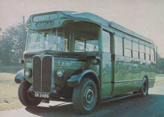 Green Line Reigate Surrey Transport Station Coach Bus Rare Postcard