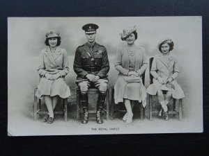 WW2 Royalty KING GEORGE Vl THE ROYAL FAMILY c1939 RP Postcard by Photochrom