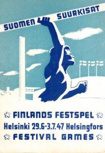 Finlands Festpel Card Helsinki 29.6-3.7.47 Games