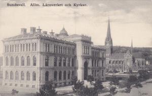 SUNDSVALL, Sweden, PU-1912; Alim, Laroverket och Kyrkan