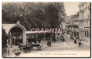 Old Postcard Vichy Couverles galleries and Wilson Street