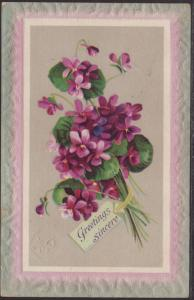 Greetings Sincere,Flowers Postcard