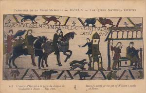 Bayeaux Queen Mathilda Tapestry Harold's Escort At Gat of William's Castle at...