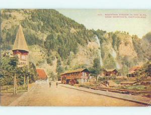 Houses Along Road Meiringen - Interlaken-Oberhasli - Bern Switzerland F5310