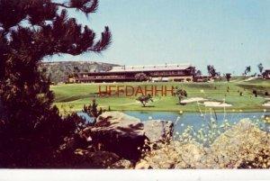 The Clubhouse and 6th green at LA COSTA HOTEL AND SPA, RANCHO LA COSTA, CA 1970