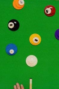 Pool Table Snooker Style Sports Game Cue Toy Lego Model Postcard
