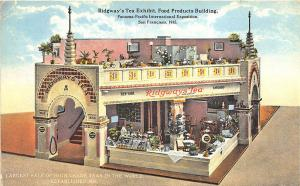 1915 Pan-Pacific Ridgway's Tea Exhibit Food Products Postcard