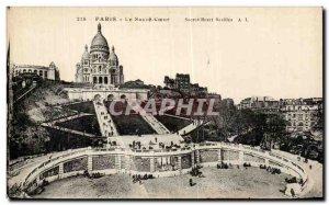 Old Postcard Paris Montmartre's Sacre Coeur