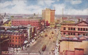 WINNIPEG , Manitoba , Canada , 00-10s : Main Street , North from Merchant's Bank