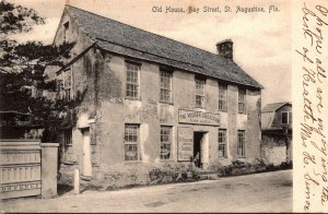 Florida St Augustine Old House Bay Street 1908 Rotograph
