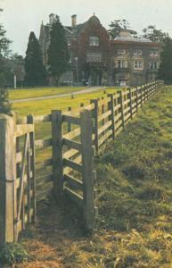 Knuston Hall Unusual Fencing View 1970s Postcard