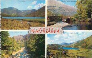 Postcard Modern Beautiful Snowdonia Llyn Ogwen Aberglaslyn pass