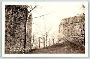 Elizabeth Illinois~Hunter's Tavern~Towering Rock Formations~~1930s RPPC