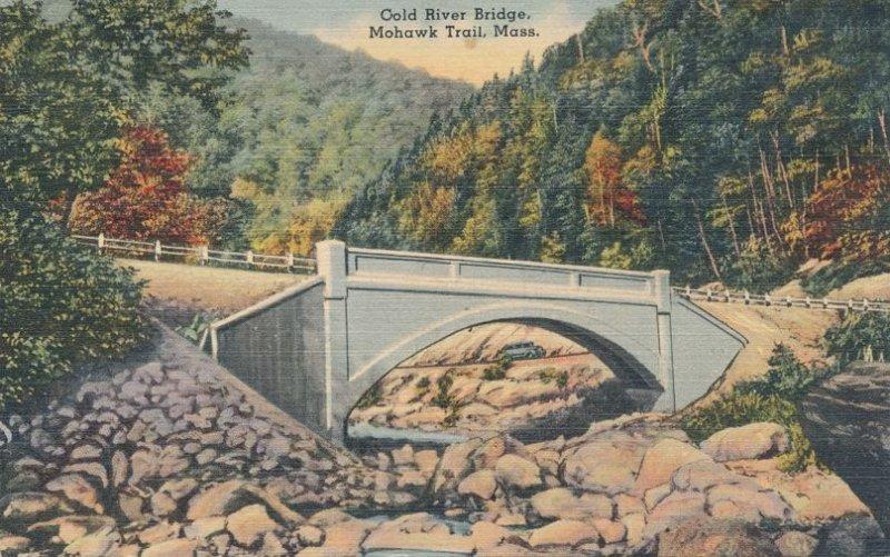 Cold River Bridge on the Mohawk Trail Highway MA, Massachusetts - Linen