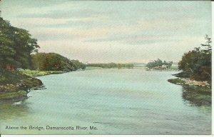 Above The Bridge, Damariscotta River, Me.