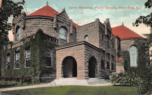 Jarvie Memorial Public Library, Bloomfield, New Jersey, Postcard, Used in 1908