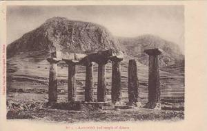 Acrocorinth and temple of Athena, Greece, 10-20s