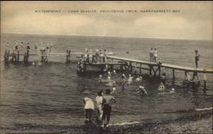 Camp Seaside Providence YWCA - Narragansett Bay RI Postcard