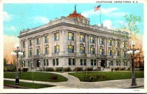 North Dakota Grand Forks Court House Curteich 1930