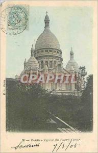 Postcard Old Paris Church of the Sacred Heart