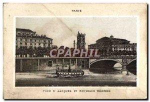 Chromo Paris Tour Jacques New Theaters corset Manufacture Thieusselin Street ...