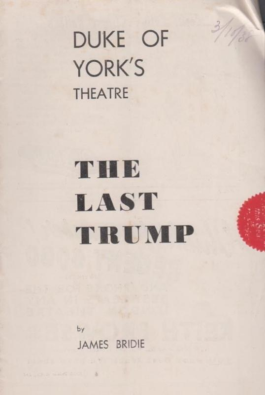 The Last Trump James Bridie Drama Duke Of York London Theatre Programme