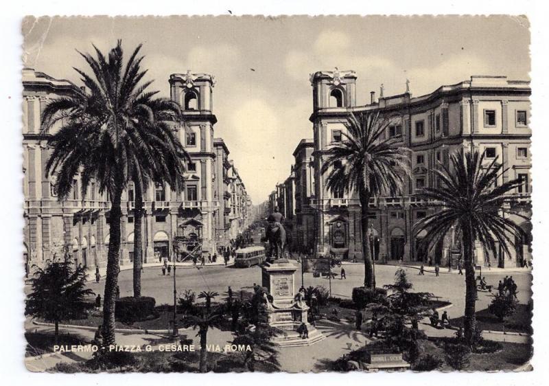 Italy Sicily Palermo Piazza G Cesare Via Roma Cesare Capello